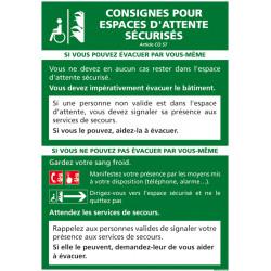Panneau CONSIGNES POUR ESPACES D'ATTENTE SECURISES (A0376)