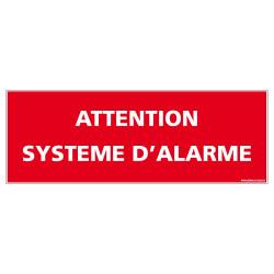 PANNEAU ATTENTION SYSTEME D'ALARME (D1014)