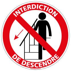 Panneau Interdiction de descendre (D1022)