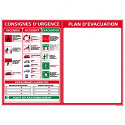 PANNEAU PLAN D'EVACUATION (A0400)