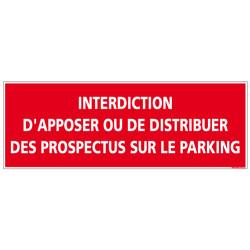 Panneau Interdiction Distribuer prospectus sur parking (D1024)