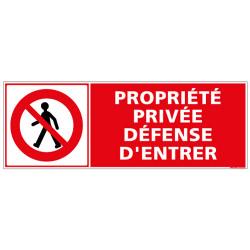 PANNEAU PROPRIETE PRIVEE DEFENSE D'ENTRER (D1042)