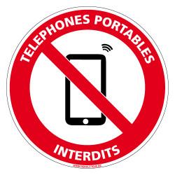 PANNEAU TELEPHONES PORTABLES INTERDITS (D1050)