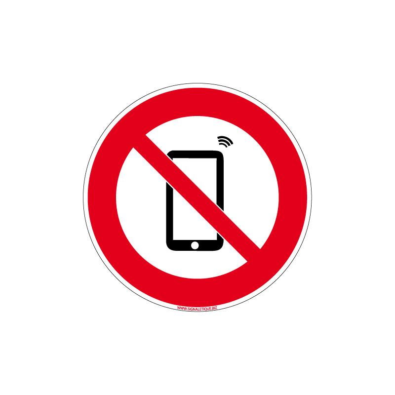 PANNEAU TELEPHONES PORTABLES INTERDITS (D1051)
