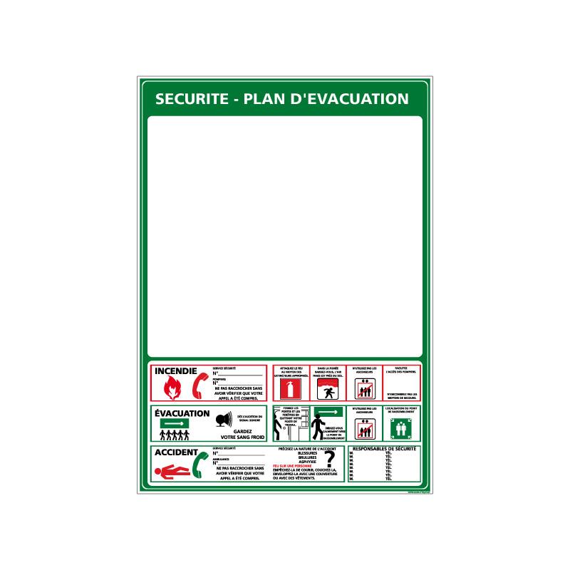 PANNEAU CONSIGNE DE SECURITE - PLAN D'EVACUATION (A0403)