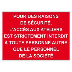 PANNEAU INTERDICTION D'ACCES (D1073)