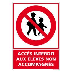 PANNEAU ACCES INTERDIT AUX ELEVES NON ACCOMPAGNES (D1075)