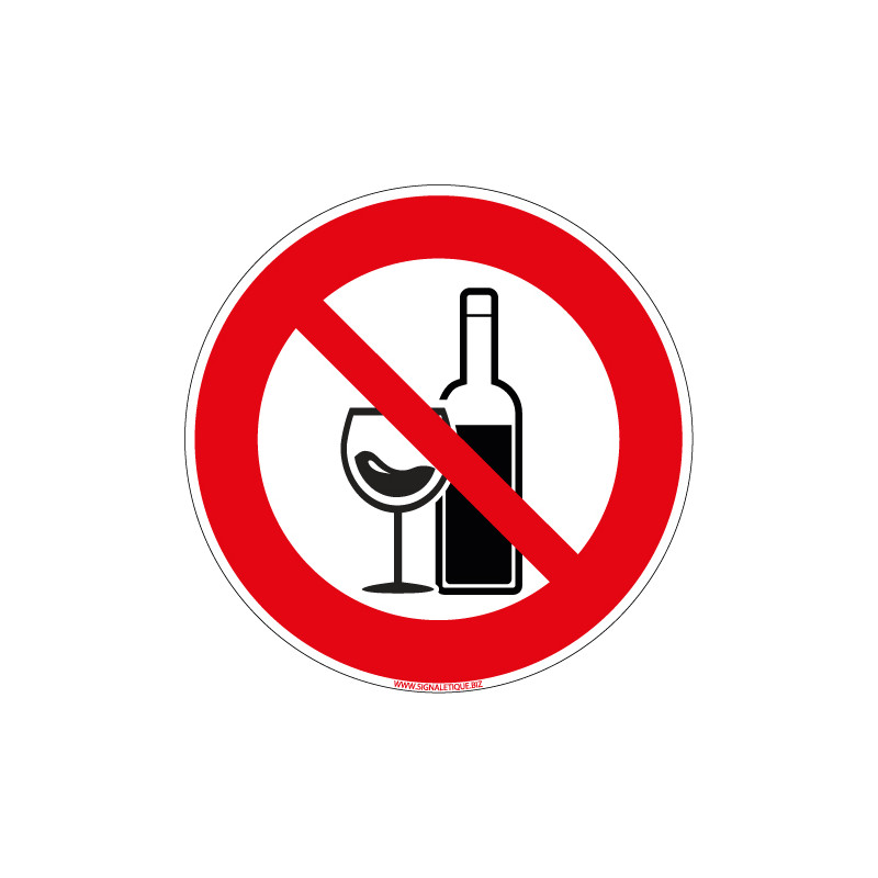 PANNEAU ALCOOL INTERDIT (D1128)