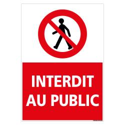 PANNEAU INTERDIT AU PUBLIC (D1130)