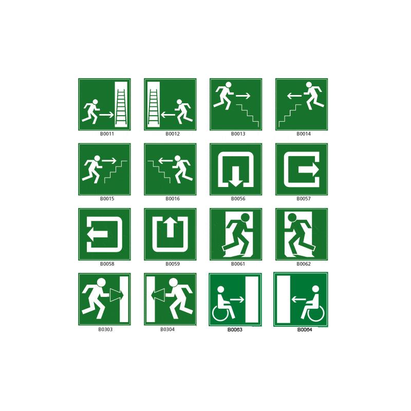 Panneau pictogramme issue de secours