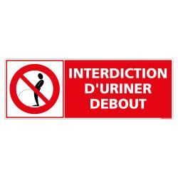 PANNEAU INTERDICTION D'URINER DEBOUT (D1135)
