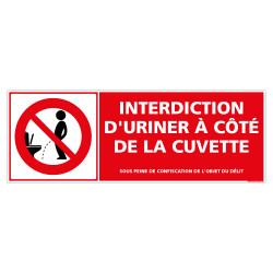 PANNEAU INTERDICTION D'URINER A COTE DE LA CUVETTE (D1138)