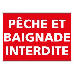 PANNEAU PCHE ET BAIGNADE INTERDITE (D1146)