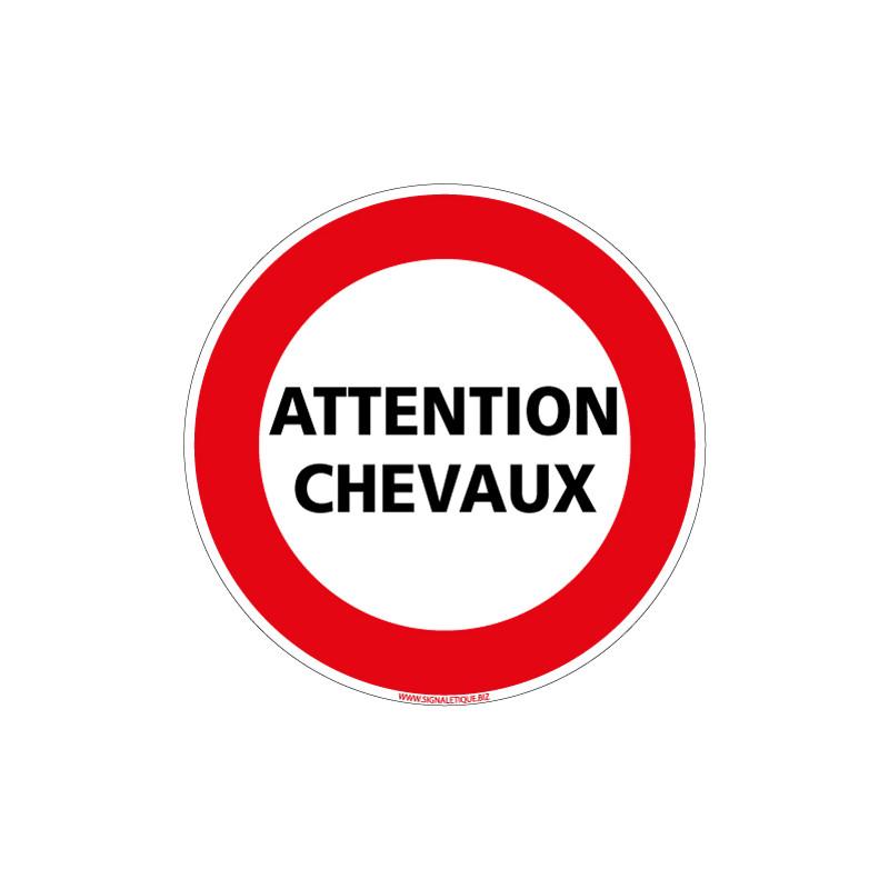 PANNEAU ATTENTION CHEVAUX (D1147)