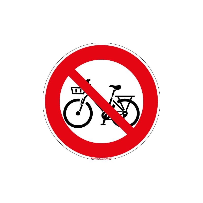 PANNEAU BICYCLETTE INTERDITE (D1204)