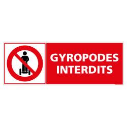 PANNEAU INTERDIT AUX GYROPODES (D1267)