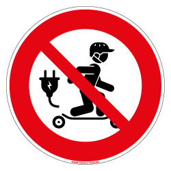 PANNEAU SKATEBOARD ELECTRIQUE INTERDIT (D1274)