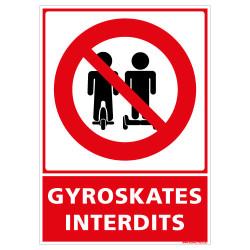 PANNEAU GYROSKATES INTERDITS (D1278)