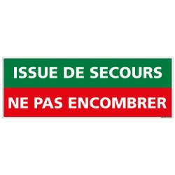 PANNEAU ISSUE DE SECOURS NE PAS ENCOMBRER (B0091)