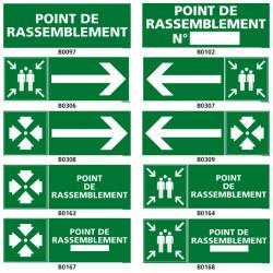 panneau et pictogramme Point de rassemblement