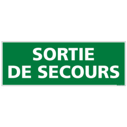 Panneau SORTIE DE SECOURS (B0104)