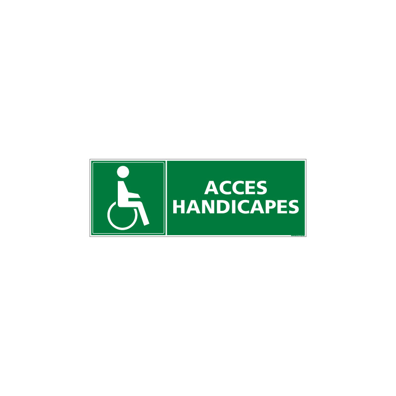 Panneauevacuation/secours Acces handicapes (B0111)