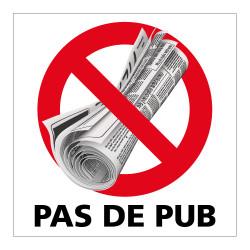ADHESIF PAS DE PUB (G1409) - 83x83 mm