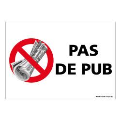 AUTOCOLLANT PAS DE PUB (G1410)