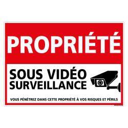 PANNEAU PROPRIETE SOUS VIDEO SURVEILLANCE (G1440)