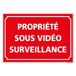 PANNEAU PROPRIETE SOUS VIDEO SURVEILLANCE (G1495)