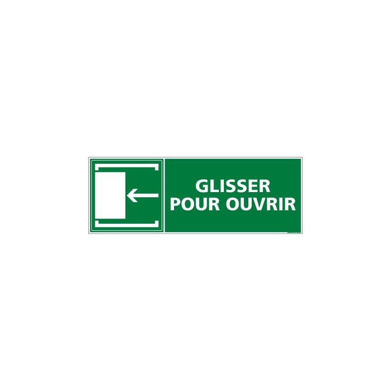 PANNEAU EVACUATION/SECOURS GLISSER POUR OUVRIR (GAUCHE) (B0133)
