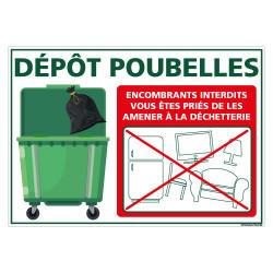 PANNEAU DEPoT ENCOMBRANT INTERDIT (H0345)