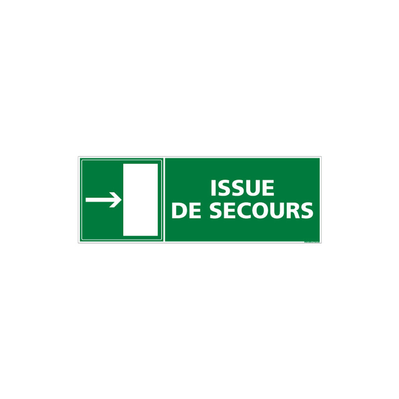 PANNEAU SORTIE ISSUE DE SECOURS (DROITE) (B0139)