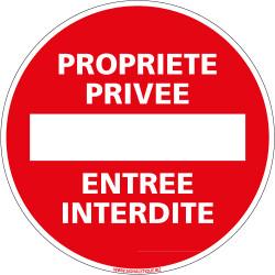 Panneau PROPRIETE PRIVEE ENTREE INTERDITE (L0037)