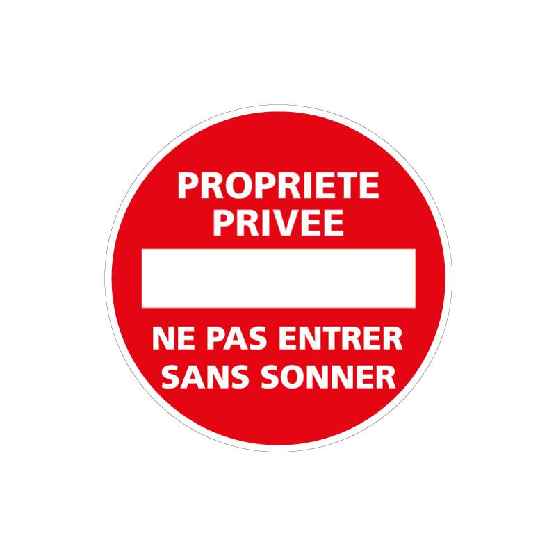 Panneau PROPRIETE PRIVEE NE PAS ENTRER SANS SONNER (L0042)