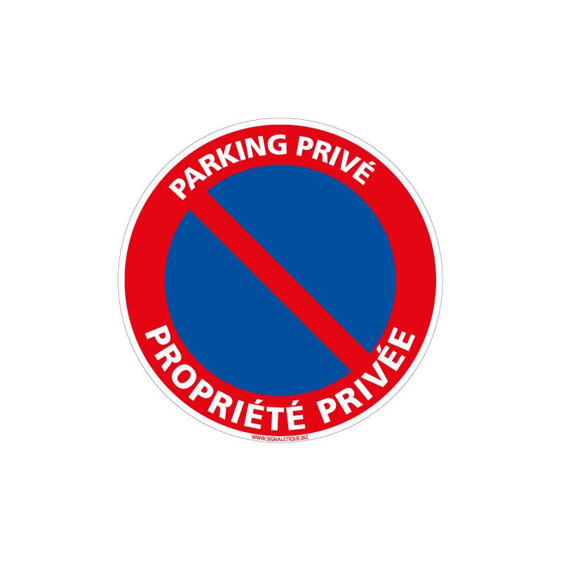 Panneau PARKING PRIVE PROPRIETE PRIVEE (L0069)