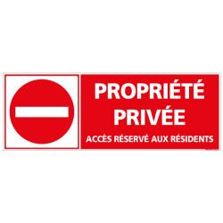 Panneau PROPRIETE PRIVEE ACCES AUX RESIDENTS (L0130)