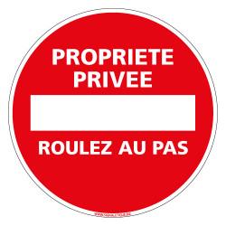 Panneau PROPRIETE PRIVEE ROULEZ AU PAS (L0232)