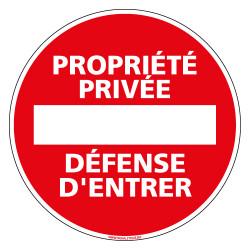 Panneau Pvc Propriete Privee Defense D Entrer Signals
