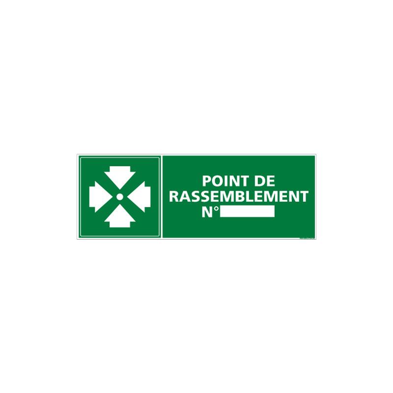 PANNEAU POINT DE RASSEMBLEMENT NUM (B0165)