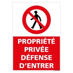 PANNEAU PROPRIETE PRIVEE DEFENSE D'ENTRER (L0287)