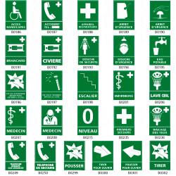 Panneau pictogramme evacuation/secours