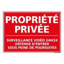 PANNEAU PROPRIETE PRIVEE - SURVEILLANCE VIDEO (L1002)