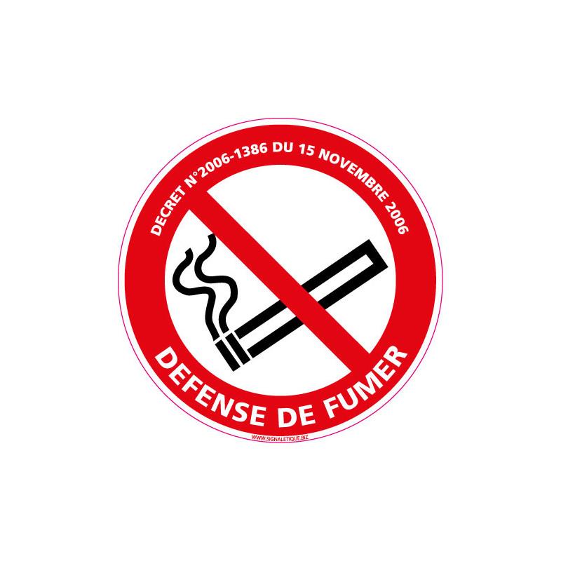 PANNEAU DEFENSE DE FUMER AVEC LOI (N0007)