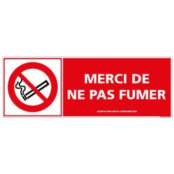 PANNEAU MERCI DE NE PAS FUMER (N0052)