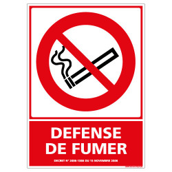 PANNEAU DEFENSE DE FUMER (N0119)