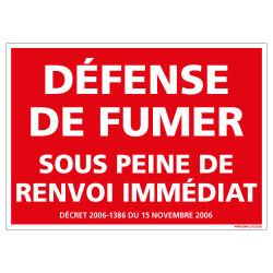 PANNEAU DEFENSE DE FUMER (N0134)