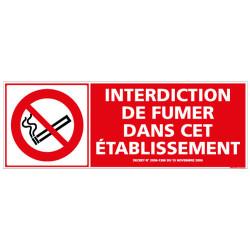 PANNEAU INTERDICTION DE FUMER DANS CET ETABLISSEMENT (N0149)