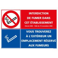PANNEAU INTERDICTION DE FUMER / ESPACE FUMEUR (N0171)