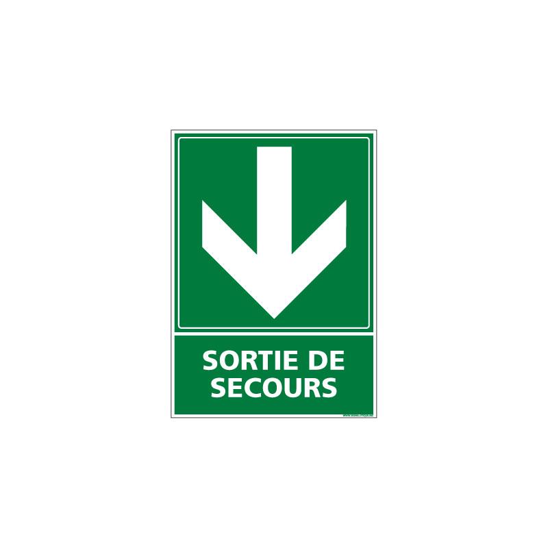 Panneau evacuation/secours SORTIE DE SECOURS (B0241)